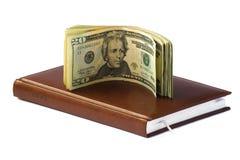 Dólares e planejador do dia Imagem de Stock