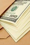 Dólares em um envelope. Fotografia de Stock