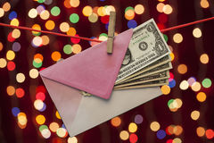 Dólares em um envelope Foto de Stock Royalty Free