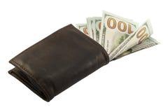 Dólares en la cartera Fotografía de archivo libre de regalías