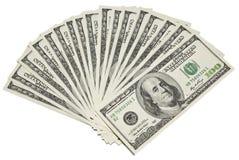 Dólares en un blanco fotos de archivo