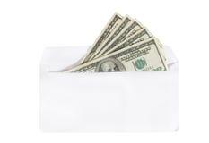 Dólares en un sobre foto de archivo libre de regalías