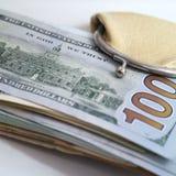 Dólares en una carpeta Fotografía de archivo