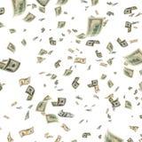 Dólares en vuelo Foto de archivo