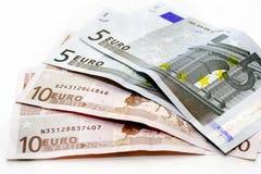 Dólares euro Imagen de archivo libre de regalías