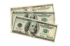 100 dólares i: Trayectoria de recortes incluida Fotografía de archivo