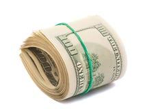 Dólares isolados fotografia de stock royalty free
