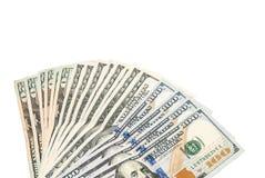 Dólares isolados Fotografia de Stock