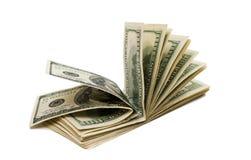 Dólares isolados imagens de stock