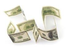 Dólares isolados Imagem de Stock