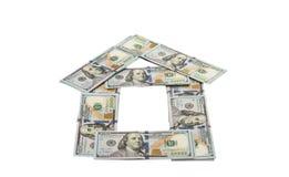 Dólares isolados imagem de stock royalty free