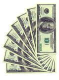 Dólares isolados em um fundo branco Imagem de Stock Royalty Free