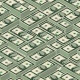 Dólares isométricos de modelo inconsútil Imagen de archivo libre de regalías