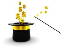Dólares mágicos Imagem de Stock