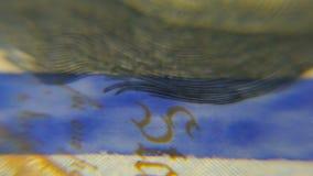 Dólares macros Imagen muy detallada del dinero americano almacen de video