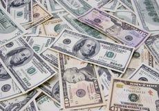 Dólares misturados do fundo Foto de Stock