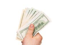 Dólares na mão Fotos de Stock Royalty Free