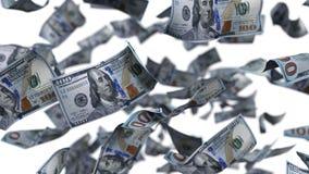 Dólares na queda livre ilustração 3D Imagens de Stock Royalty Free
