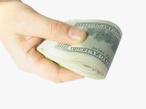Dólares no braço Fotografia de Stock Royalty Free