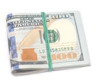 Dólares no branco Fotografia de Stock Royalty Free