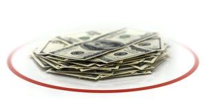 Dólares no círculo Fotografia de Stock Royalty Free