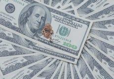 Dólares no fundo branco Imagem de Stock