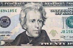 Dólares no fundo branco Imagens de Stock