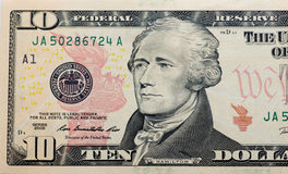 Dólares no fundo branco Imagem de Stock Royalty Free