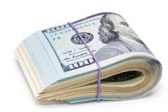 100 dólares novos pelo fim acima Imagens de Stock Royalty Free