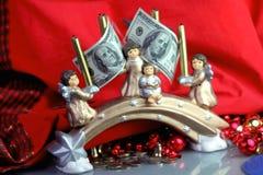 Dólares para la Navidad Fotografía de archivo libre de regalías