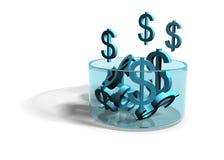 Dólares - renta cada vez mayor Foto de archivo