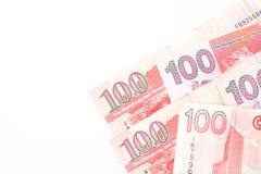 100 dólares son la divisa nacional de Hong Kong Imagen de archivo