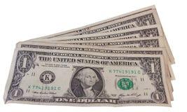 Dólares usados Fotografía de archivo libre de regalías