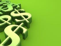 Dólares verdes Imágenes de archivo libres de regalías