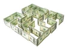 Dólares verdes de laberinto Foto de archivo