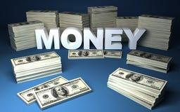 Dólares y dinero Imagen de archivo libre de regalías