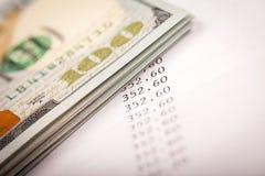 Dólares y plan del préstamo Foto de archivo libre de regalías