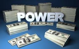 Dólares y potencia Imagenes de archivo