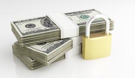 Dólares y seguridad Fotografía de archivo