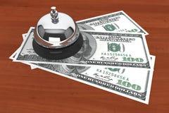 Dólares y servicio Bell foto de archivo