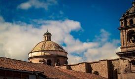 Dôme d'église de Cusco au Pérou Photo libre de droits