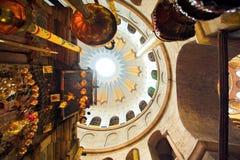 Dôme dans l'église de la tombe sainte image libre de droits