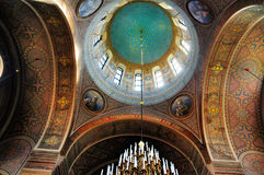 Dôme de cathédrale d'Uspenski, Finlande photo stock