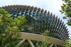 Dôme de l'esplanade, théâtres sur la baie, Singapour image libre de droits