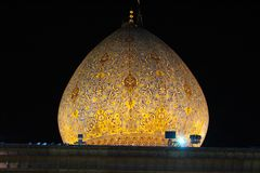 Dôme de la mosquée de Shah Ceragh, Chiraz, Iran photo stock
