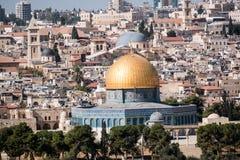 Dôme de la roche et du mur occidental à Jérusalem, Israël Photo libre de droits