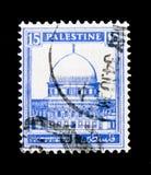 Dôme de la roche, Jérusalem, ` définitif d'illustrés de ` de question 1927 - serie 1945, vers 1932 Photos libres de droits