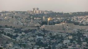 Dôme de la roche de la promenade de haas, Jérusalem banque de vidéos