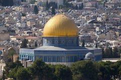Dôme de la roche, vieille ville de Jérusalem Images stock