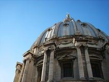 Dôme de la rue Peter, Ville du Vatican Images libres de droits
